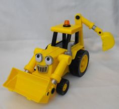 Talking Bob The Builder Scoop Yellow Toy Vehicle Backhoe