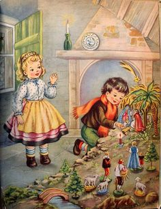 Which is your favorite Christmas illustration by Italian artist Maria Pia Franzoni (born ? Vintage Christmas Images, Old Fashioned Christmas, Christmas Scenes, Christmas Nativity, Christmas Past, Retro Christmas, Vintage Holiday, Christmas Pictures, Christmas Greetings
