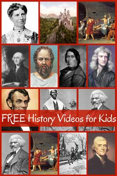FREE History Videos for Kids -Brookdale House compiled a huge list of videos to go with all time periods. This must have taken her forever! These videos cover the four year history cycle–ancient history, medieval history, early modern history, and modern History For Kids, Study History, Mystery Of History, Women's History, 8th Grade History, Teaching Social Studies, Teaching History, History Activities, Teaching American History
