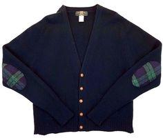 ORVIS Mens CARDIGAN Sweater LARGE Red MERINO Wool SIZE Man JUMPER ...