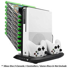 Xbox One S Vertical Stand Cooling Fan Controller Charging Station with Game Storage  Dualshock Charger >>> More info could be found at the image url.Note:It is affiliate link to Amazon.