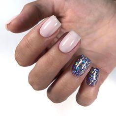 Nails 2018 Glitter 59 Ideas For 2019 Beige Nail Art, Beige Nails, Burgundy Nails, Purple Nail Designs, Best Nail Art Designs, Spring Nail Art, Spring Nails, Autumn Nails, Gold Manicure