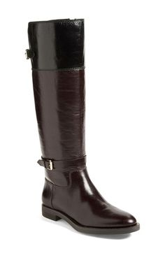 Free shipping and returns on Enzo Angiolini 'Eero' Leather Boot (Women) at Nordstrom.com. Lightly distressed, colorblocked leather adds textural intrigue to a head-turning Enzo Angiolini riding boot. Buckle detailing at the ankle and at the top of the shaft are the perfect finishing touches.