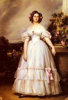 Moda no século XIX romantismo caracterizado pelo regresso das saias volumosas pelas decoraçoes com laços