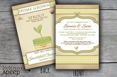 Little Sprout (Gender Neutral) - Baby Shower Invitation (Not an Actual Seed Packet) DIGITAL FILE on Etsy, $15.00