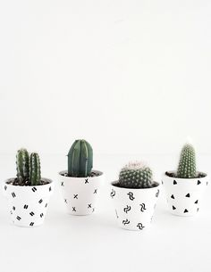 DIY- Mini Patterned Plant Pots