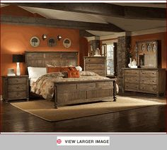 Rustic Bedroom Set Ideas... how to transform existing furniture into something more natural looking... ???
