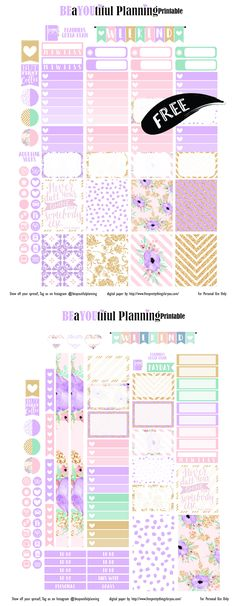Shine Planner Printables by BeaYOUtiful Planning- Gorgeous! - Free Pretty Things For You