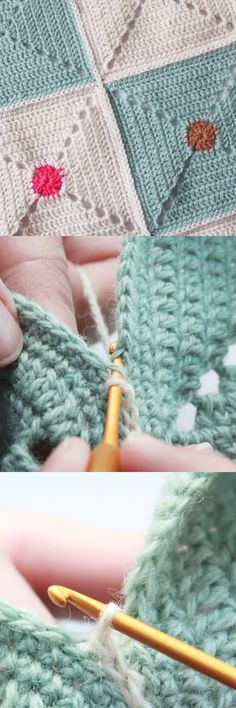 Crochet: flat seam using a simple chain stitch