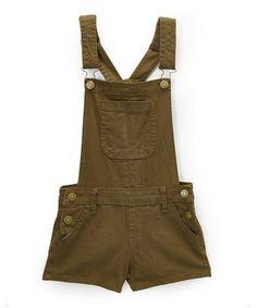 Love this Army Green Shortalls - Girls on #zulily! #zulilyfinds