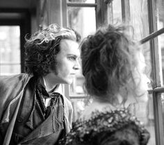 "Johnny Depp and Helena Bonham Carter in ""Sweeney Todd: The Demon Barber of Fleet Street"" (2007).Director: Tim Burton"