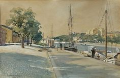 Turku 1934 Hugo Backmansson - Backmansson's paintings are in numerous museums in Finland and Russia, for ex. The State Hermitage Museum. Hermitage Museum, Museums, Dreaming Of You, Russia, Street View, Boat, Paintings, Artists, Dreams