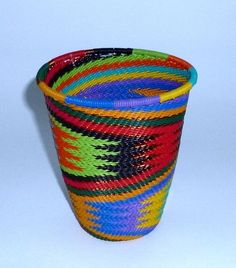 Zulu Telephone Wire Tall Cup Basket (ZWTC438)