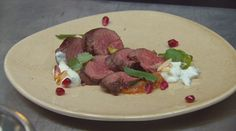Kangaroo with Spiced Tomato Sauce Kangaroo Recipe, Lunch Recipes, Breakfast Recipes, Masterchef Recipes, Cinnamon Almonds, Coriander Seeds, Venison, Tomato Sauce, Fine Dining