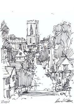 Dave Gibbons artwork- Landscape Drawings