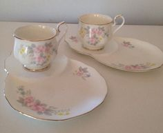 2 X Tennis Sets Lupoa Fine Bone China Duo Teacup Tea Coffee Cup Plate  | eBay