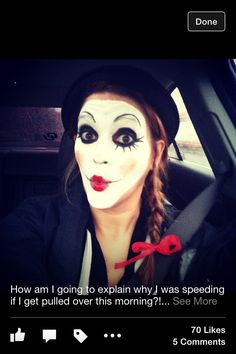 My mime face