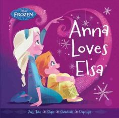 There are moving elements on every page in this book about Anna and Elsa playing together.