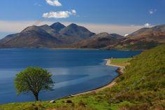 Isle of Raasay . View to The Isle of Skye,Scotland.