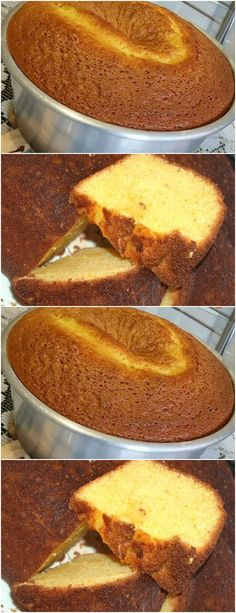 Food Cakes, Whole Orange Cake, Cake Recipes, Dessert Recipes, Portuguese Desserts, Cakes And More, Cornbread, French Toast, Pudding