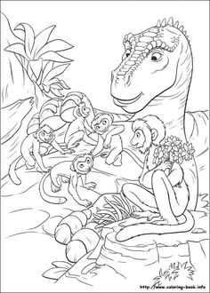Funny Cera from Land before time coloring pages for kids