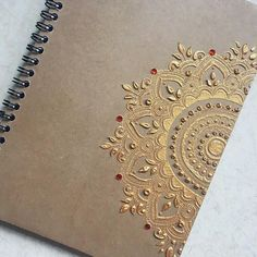 Personalised A5 Henna Notebook