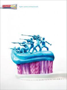 「戦おう!」 豪快な擬人化で伝える歯磨き粉の広告 | AdGang