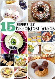 15 yummy breakfast ideas for kids that will make your child's day! These are so fun, and your kids will love them.
