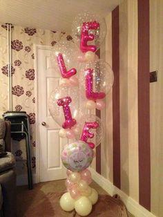 Letter Bouquet Balloon Pillar