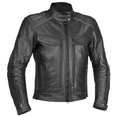 River Road 'Scout Classic' Mens Black Leather Jacket - LeatherUp.com