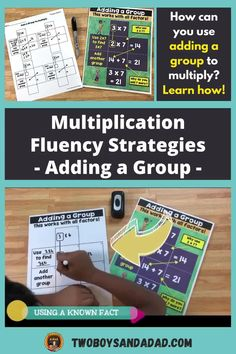 Multiplication fluency does not have to be elusive! Sure, students need to practice, memorize and understand the multiplication facts. But that doesn't always achieve fluency with the facts. You also need to teach students multiplication strategies such as adding a group. The multiplication strategies help students when they just can't recall or remember the facts. Discover and learn more about how to teach these strategies! #twoboysandadad Math Tips, Math Strategies, Teaching Numbers, Teaching Math, Standards For Mathematical Practice, Teaching Addition, Multiplication Activities, Common Core Math, Math Teacher