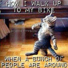 LMAO. Until I trip and fall!! Trust Me I'm A Biker Please Like Page on Facebook: https://www.facebook.com/pg/trustmeiamabiker Follow On pinterest: https://www.pinterest.com/trustmeimabiker/