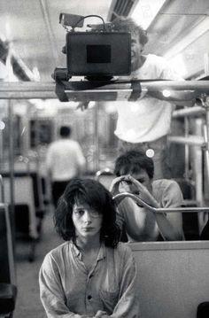 "Leos Carax and Juliette Binoche on the set of ""Les amants du Pont-Neu"" (The Lovers on the Bridge) (1991)"