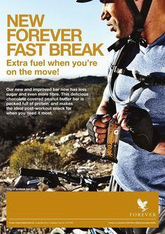 Forever Fast Break #EnergyBar. A nutritious bar that has less sugar & even more fibre! http://link.flp.social/7M8i7j