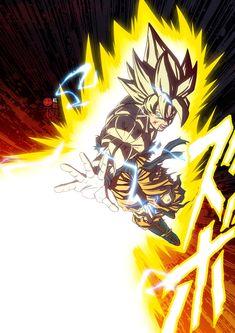Goku Super Saiyan one hand Kamehameha by limandao Goku Wallpaper, Wallpaper Animes, Dragon Ball Gt, Foto Do Goku, Otaku Anime, Anime Art, Bd Comics, Akira, Comic Art