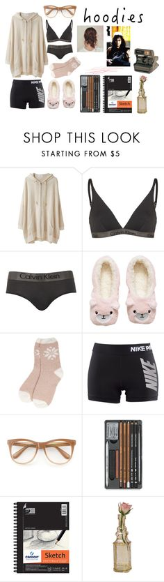 """""""sketch & play"""" by winter-n-rose ❤ liked on Polyvore featuring Tsumori Chisato, Calvin Klein, H&M, NIKE, Wildfox, Universal, Polaroid, Cultural Intrigue and Hoodies"""