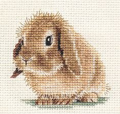 An original counted cross stitch kit by Fido Stitch Studio. This 'mini' stitch kit could be completed in a few hours. This kit contains everything you need to complete your project. Mini Cross Stitch, Cross Stitch Alphabet, Cross Stitch Animals, Counted Cross Stitch Kits, Cross Stitching, Cross Stitch Embroidery, Hand Embroidery, Cross Stitch Designs, Cross Stitch Patterns
