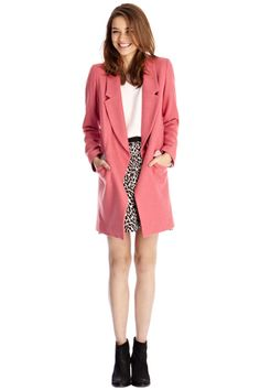 Loved by Mollie Oasis pink car coat