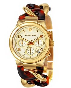 Michael Kors chain watch in turtle -- LOVE this""""