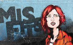 Abby, Misfits on Behance Misfits, Behance, Painting, Fictional Characters, Patterns, Illustrations, Bass, Ink, Painting Art