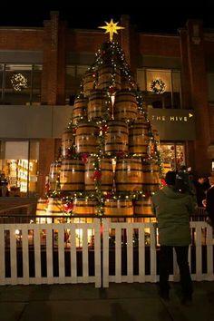 Jack Daniels Whiskey Barrel Christmas Tree