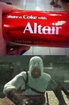 Assassins creed SHARE A COKE WITH ALTAIR