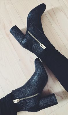 my new glitter boots from Zara