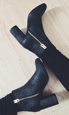 my new glitter boots from Zara