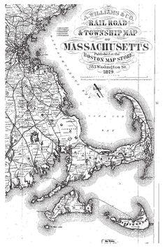 Historic #map of Massachusetts
