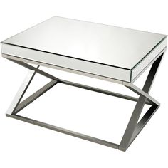 Titan Lighting Klein Mirror Clear, Crome and Stainless Steel Coffee Table, Clear/Chrome Mirrored Furniture, Steel Furniture, Furniture Nyc, Cheap Furniture, Table Furniture, Stainless Steel Coffee Table, Mirrored Coffee Tables, Welcome To My House, Coffee Table Design