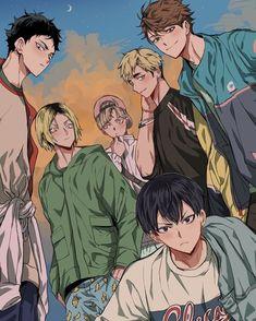 just a bunch of haikyuu ships Haikyuu Kageyama, Hinata, Manga Haikyuu, Haikyuu Funny, Haikyuu Fanart, Haikyuu Ships, Manga Anime, Anime Art, Kenma