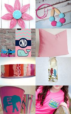 Think Pink! by Dara on Etsy--Pinned with TreasuryPin.com #onlineshopping #giftideas #etsytreasury #etsygifts #gifts #etsy