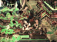 De Mogao-grotten zijn boeddhistische tempelgrotten op ongeveer 25 km afstand van het stadscentrum van Dunhuang, Jiuquan, in de Chinese provincie Gansu. Tussen ongeveer de 4e tot en met de 12e eeuw hebben boeddhistische monniken hier ongeveer 1000 grotten geslagen in de zandsteen rotsen en versierd met boeddhistische kunst, zoals boeddhabeelden, sculpturen en muurschilderingen. Momenteel zijn er  nog 492 grotten. Muurschildering