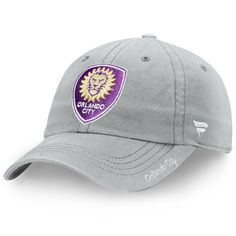 0999491f0f8 Women s Fanatics Branded Gray Orlando City SC Fundamental Adjustable Hat